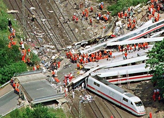 22 rocznica największej katastrofy kolejowej w powojennych Niemczech
