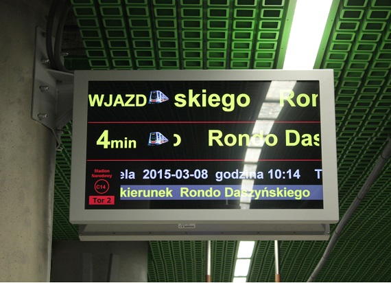 Metro Warszawskie zamontuje 28 nowych monitorów od Systemu Informacji Pasażerskiej