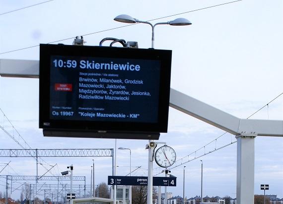 KZŁ uzyskały pozytywny wynik testów wdrożeniowych dla urządzeń informacji pasażerskiej CSDIP