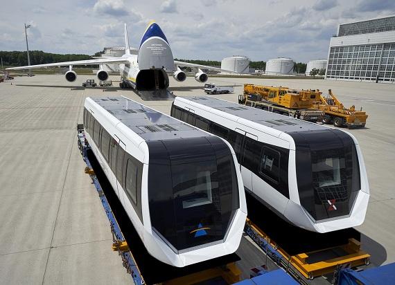 Wyjątkowy transport Antonowa! Pociąg magnetyczny poleciał z Niemiec do Chin