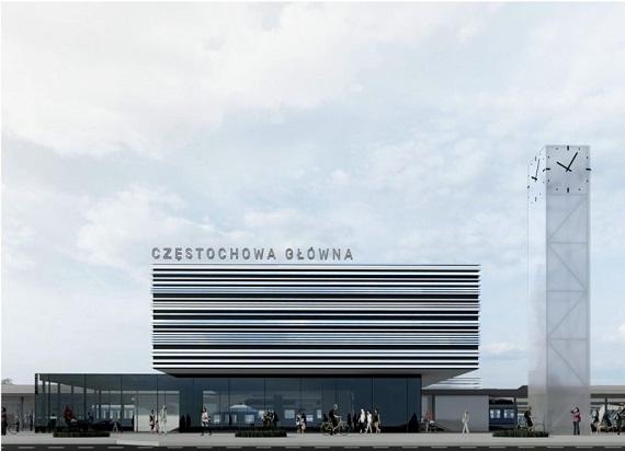 Rozpoczęły się prace projektowe przebudowy dworca Częstochowa Główna