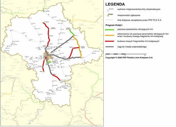Kolej Plus: Projekt budowy nowej linii Zegrze – Przasnysz w II etapie. Samorządy zakładają stowarzyszenie