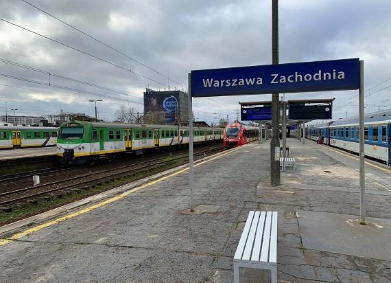 Kolejny etap przebudowy Warszawy Zachodniej. Od 1 stycznia zmiany w rozkładzie jazdy