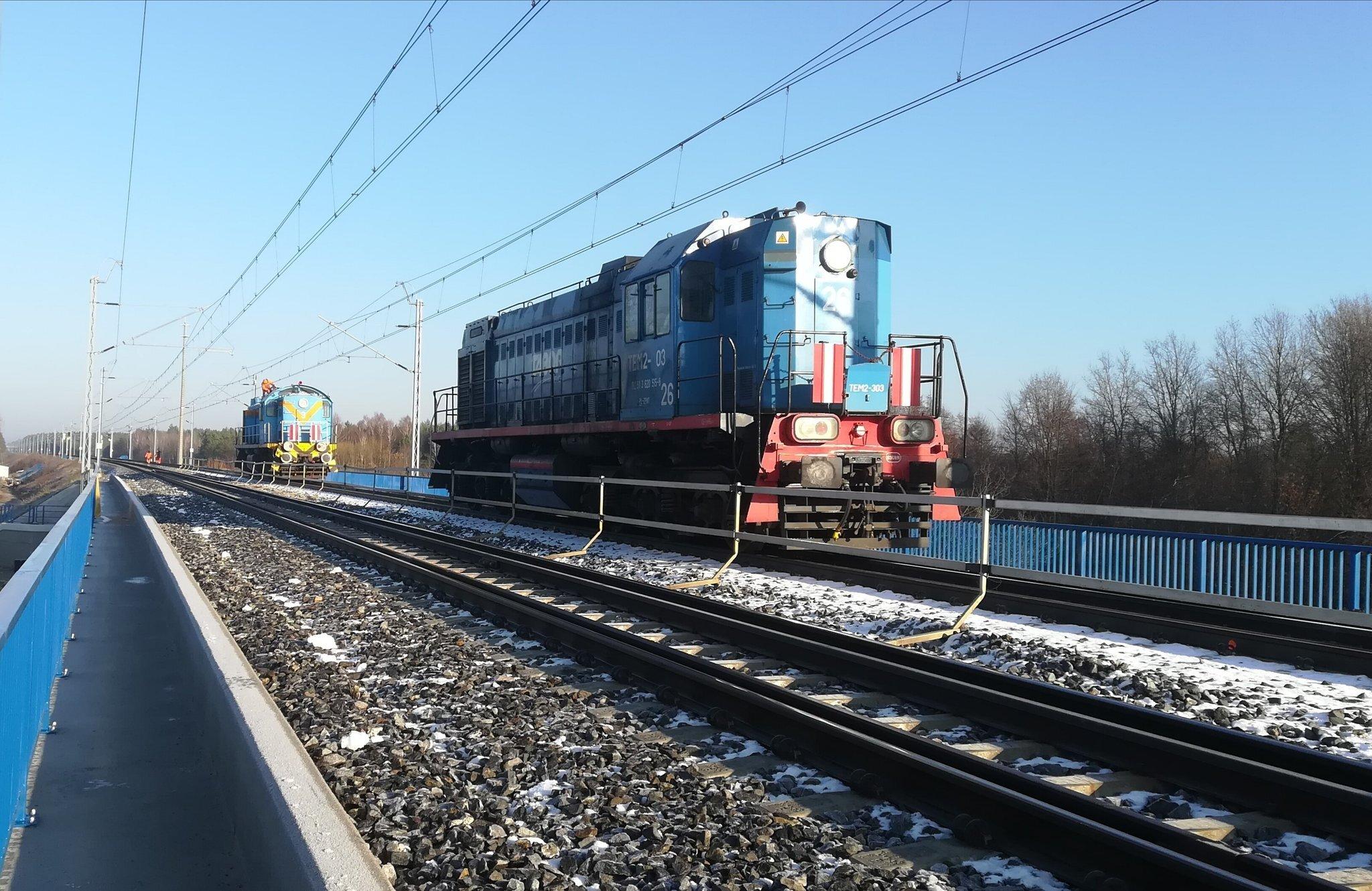 117-tonowe lokomotywy sprawdziły mosty i wiadukty na CMK po modernizacji [ZDJĘCIA]