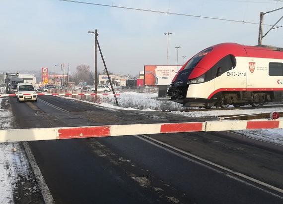 Przejazd kolejowy Września