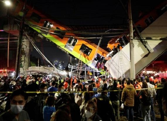 Meksyk: Wiadukt zawalił się pod pociągiem metra. Co najmniej 13 ofiar [WIDEO]